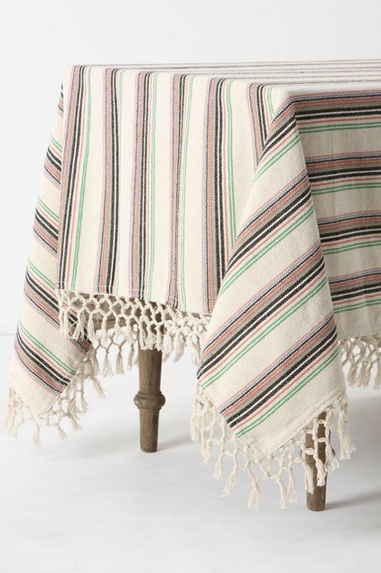 eclectic table linens by Anthropologie