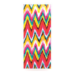 "Kess InHouse - Aimee St. Hill ""Painted Chevron"" Metal Luxe Panel (9"" x 21"") - Our luxe KESS InHouse art panels are the perfect addition to your super fab living room, dining room, bedroom or bathroom. Heck, we have customers that have them in their sunrooms. These items are the art equivalent to flat screens. They offer a bright splash of color in a sleek and elegant way. They are available in square and rectangle sizes. Comes with a shadow mount for an even sleeker finish. By infusing the dyes of the artwork directly onto specially coated metal panels, the artwork is extremely durable and will showcase the exceptional detail. Use them together to make large art installations or showcase them individually. Our KESS InHouse Art Panels will jump off your walls. We can't wait to see what our interior design savvy clients will come up with next."