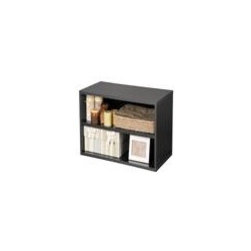Foremost - Large Shelf Storage Cube (Honey), Black - Finish: Black. Two large storage shelves. Can be used horizontally as shelf. Perfect for storing magazines and books. Made from wood, particle board, MDF and PE veneer. Minimal assembly required. 30 in. W x 15 in. D x 15 in. H (18.07 lbs.)Cube is elegant in its simplicity and provides flexible functionality.