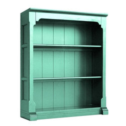 EuroLux Home - New Bookcase Blue Painted Hardwood Open - Product Details