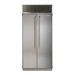 "Marvel - MPRO36SSSS 36"" Professional Side-by-Side Single Cabinet Refrigerator with Bold P - The new AGA MARVEL Professional Series of premium appliances is an amazing marriage of European cooking performance and the elegant smart design found in todays most striking kitchens By combining the best of AGAs professional catering heritage and M..."