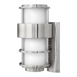 Hinkley Lighting - Hinkley Lighting 1904SS-GU24 Saturn Stainless Steel Outdoor Sconce - Hinkley Lighting 1904SS-GU24 Saturn Stainless Steel Outdoor Sconce