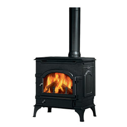 Majestic Products - Majestic 2477 DutchWest Non-Catalytic Wood Burning Stove - The Majestic 2477 Dutchwest non-catalytic wood burning stove is part of Majestic's full line of products to complete your fireplace or stove. The 2477 model from Majestic's Dutchwest series offers a cleaner burning non-catalytic stove that is constructed of cast-iron and gives a classic styling to any room, and a stable, longer-burning flame with the EverBurn combustion system to lower emission levels. This model also gives you a set of convenient leg levelers included for convenient installation on rough or uneven surfaces, an insulated refractory brick firebox helps to keep the heat in and the cold out, and safe and easy front and side loading. It has a heating capacity of up to 1,400 square feet of room. Majestic has been serving in the production of quality fireplaces, stoves, log sets, and outdoor accessories for over 50 years, and offer a wide range of beautiful styles, sizes, and trims.