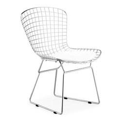 Zuo Modern - Zuo Modern Wire Modern Dining Chair, Pack of 2 - An icon of Mid-Century modern, the Wire dining chaircomes in three finishes: chrome, matte black, or matte white: as well as in two heights: dining and bar. It is made of a welded solid steel frame with six cushion color options: black, white, red, orange, green, grey, and espresso. Sold separately.