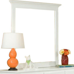Homelegance - Homelegance Morelle Rectangular Mirror in White - The warmth of cottage living is invoked by the classic styling of the Morelle collection . The collection is designed with many features perfect for today s casual lifestyle such as a low post bed with simple picture framing and round finials plus molded drawer fronts and satin nickel knobs on the case pieces. The addition of a pull out trundle and toy box offerings further the functionality of the collection . The ability to choose from twin, full, queen, California king and Eastern king bed sizes makes this group perfect for youth bedrooms, guest bedrooms or master bedrooms. Adding to the versatility are two distinct painted finishes, black and white.