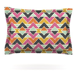 """Kess InHouse - Amanda Lane """"Sequoyah Arrows"""" Pillow Sham (Woven, 30"""" x 20"""") - Pairing your already chic duvet cover with playful pillow shams is the perfect way to tie your bedroom together. There are endless possibilities to feed your artistic palette with these imaginative pillow shams. It will looks so elegant you won't want ruin the masterpiece you have created when you go to bed. Not only are these pillow shams nice to look at they are also made from a high quality cotton blend. They are so soft that they will elevate your sleep up to level that is beyond Cloud 9. We always print our goods with the highest quality printing process in order to maintain the integrity of the art that you are adeptly displaying. This means that you won't have to worry about your art fading or your sham loosing it's freshness."""