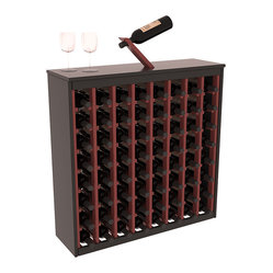 Wine Racks America - Two Tone 64 Bottle Deluxe Wine Rack in Pine, Black & Cherry - Styled to ...
