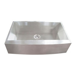 YOSEMITE HOME DECOR - Yosemite Home Decor MAGC3320SAP 16-Gauge Stainless Steel Farmhouse Kitchen Sink - These high quality Yosemite sinks are a heavy gauge, type 304 (18/8), surgical grade, stainless steel for maximum durability - 18-Percent chromium (for shine) and 8-Percent nickel (for rust resistance). Stainless steel is an extremely durable surface; it can, however, be scratched or scuffed. When scuffing does occur, please remember that this is normal and the effect will become uniform with age. The high quality stainless steel does not lose its attractive shine.
