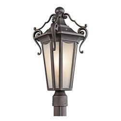 Kichler - Kichler 49418RZ 1 Light Outdoor Post Light from the Nob Hill Collection - Kichler 49418 Nob Hill Outdoor Post Light