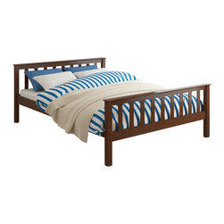 Sonax - Sonax CorLiving Monterey Solid Wood Platform Bed in Espresso Brown-Full Size - Sonax - Beds - BMB475D - Enhance your child�s sleeping space with the single bed from CorLiving. The rich Espresso Brown stained bed with the simple multi-rail styling will provide the perfect spot to curl-up. The Monterey Collection is not only good looking but is upgraded featuring 12 slats of support on each bed - No box spring is needed so you can place your mattress directly on the sturdy wood slats. Rest comfortably knowing you�ve invested in a solidly constructed bed from CorLiving.