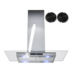 GOLDEN VANTAGE - GV 30-Inch Stainless Steel Island Range Hood W/Carbon Filter For Ductless Option - Our Contemporary Europe design range hoods capture the most pollutants, grease, fumes,