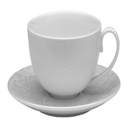 Denby - Denby Monsoon Lucille Silver Tea Saucer - Set of 2 - DENB281 - Shop for Dishes and Plates from Hayneedle.com! Teatime just isn't complete without the Denby Monsoon Lucille Silver Tea Saucer- Set of 2. Without these delicately turned fine porcelain dishes where will you rest your spoon your sugar cubes or your dunking cookies? The set comes with 2 saucers each with a 19'50s-inspired lace panel in glimmering silver and soft cream. And no matter how you take your tea these saucers are microwave freezer and dishwasher safe making them a no-brainer.About DenbyDenby has its roots in England where skilled craftsman have been making pottery using traditional methods for over 200 years. Though the time and styles have changed Denby has kept pace and today continues to make high-quality beautiful and timeless dinnerware. From its humble roots Denby has spread all over the world and is a top choice for brides and families looking to spruce up their dining sets. Even better all of Denby's products are made for the modern kitchen and are dishwasher- oven- microwave- and freezer-safe.