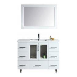 "Design Element - Design Element B48-DS-W Stanton 48"" Single Sink Vanity Set with Drop-In Sink - Design Element B48-DS-W Stanton 48"" Single Sink Vanity Set with Drop-In Sink in White"