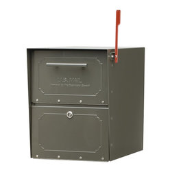 Architectural Mailboxes - Oasis Jr. Post Mount Mailbox Bronze - The box score stats on this mailbox are pretty impressive. For the record: it offers you a secure, large access door with rubber seals so your mail stays clean and dry. It's crafted of heavy gauge steel with stainless steel hinges for extra durability. And it gets extra points for classic, versatile styling.