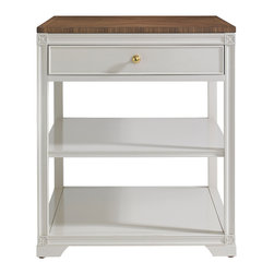 Stanley Furniture - Charleston Regency Carolina End Table - Versatile enough to be used as a bedside or end table, the Carolina End Table has one drawer and two fixed shelves. Made to order in America.