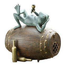 """SPI - Connoisseur Frog Garden Sculpture - -Size: 16"""" H x 15.5"""" W x 11.5"""" D"""
