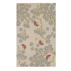 Surya - Surya Cannes Ivory Indoor/Outdoor Polyester Rug, 8' x 10' - Material: 100% PolyesterCare Instructions: Blot Stains
