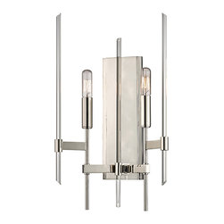 HUDSON VALLEY LIGHTING - Hudson Valley Lighting Bari-Wall Sconce Polished Nickel - Free Shipping