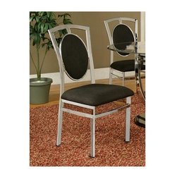 Alpine Furniture - Soho Side Chair - Set of 2 - Set of 2. Microfiber cushion. Chrome plated base. Six months warranty. Seat height: 19.5 in.. Overall: 21 in. W x 19 in. D x 40 in. H