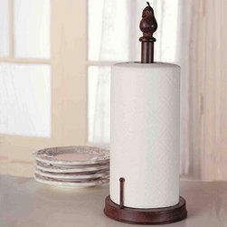 Ballard Designs - Ballard Counter Top Paper Towel Holder - We've added great new styles to this long time Ballard favorite. Counter Top Holder features weighted base and rubber feet to protect surfaces. Handcrafted of wrought iron with rust resistant finish and removable finial. For an example of each style, click on the main image.