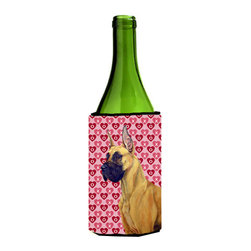 Caroline's Treasures - Great Dane Hearts Love and Valentine's Day Portrait Wine Bottle Koozie Hugger - Great Dane Hearts Love and Valentine's Day Portrait Wine Bottle Koozie Hugger Fits 750 ml. wine or other beverage bottles. Fits 24 oz. cans or pint bottles. Great collapsible koozie for large cans of beer, Energy Drinks or large Iced Tea beverages. Great to keep track of your beverage and add a bit of flair to a gathering. Wash the hugger in your washing machine. Design will not come off.