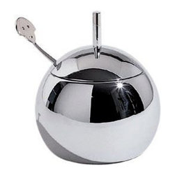 """Alessi - Alessi """"Anna"""" Sugar Bowl - Whether you have coffee or tea, this sensational sugar bowl makes every cup all the more satisfying. Lift the streamlined lid and say, """"Hello"""" to the inviting teaspoon, which serves as a reminder that life is pretty sweet."""