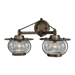 Vaxcel - Jamestown Parisian Bronze 2 Light Vanity - Vaxcel W0019 Jamestown Parisian Bronze 2 Light Vanity