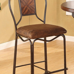 None - Tavio Saddle Brown Counter Height Chair (Set of 2) - Give your home or office an upgrade with this cool counter height chair set. This furniture can elevate the look and feel of any interior space.