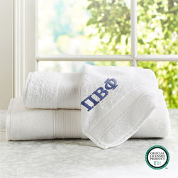 Greek Essential Bath Towel - Whether it's your new sorority letters or your own initials, fresh and clean towels are a must.
