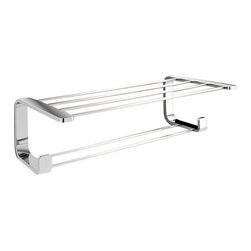 Gedy - Polished Chrome Towel Rack - Just the bathroom wall shelf for a more modern master bathroom - start with this wall shelf.