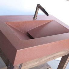 Concrete Sinks | Concrete Ramp Sinks for the Bath from Sonoma Cast Stone
