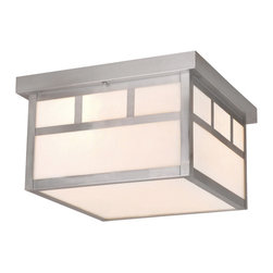 Vaxcel - Mission Stainless Steel Outdoor Flush Mount - Vaxcel OF14611ST Mission Stainless Steel Outdoor Flush Mount