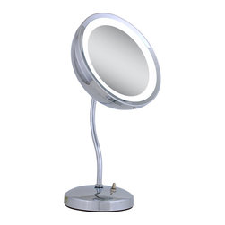 Zadro - Zadro Lighted S-Neck 6X Vanity Mirror In Chrome-Zls36 - A lighted vanity mirror is an absolute must have for any woman. Looking your best is easy when you have a lighted and magnified vanity mirror at your side. It makes doing your hair and make-up easier than ever before. The Lighted S-Neck Vanity Mirror is absolutely gorgeous. The 6x magnification mirror head is set on a beautiful S-Neck and can be adjusted to almost any angle, and a 25 watt incandescent bulb to provide amazing lighting in even the dimmest rooms.