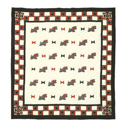 Patch Quilts - Scottie Quilt King 105 x 95 - - Intricately appliqued and beautifully hand quilted.Bedding ensemble from Patch Magic  - The Name for the finest quality quilts and accessories  - Machine washable.Line or Flat dry only Patch Quilts - QKSCOT