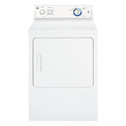 Ge - 7.0 Cu Ft Electric Dryer W/ Duradrum, 4 Heat Settings, End Of Cycle Signal - The GE 7.0 cu. Ft. Capacity Electric dryer GTDP220EFWW - White has a Dura Drum interior - Enjoy long-lasting durability and fabric protection thanks to a strong drum construction with apolypropylene-bead-reinforced finish. 4 heat selections provides the right temperatures for your clothes drying needs. The End-Of-Cycle Signal alerts you when the load is done, so clothescan be removed before wrinkles set in and the Auto-Dry feature monitors air temperature to set the optimal drying time. 7.0 cu. Ft. Capacity Electric dryer - White Dura Drum interior - Enjoy long-lasting durability and fabric protection thanks to a strong drum construction with a polypropylene-bead-reinforced finish