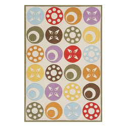 Momeni - Kids Lil Mo Whimsy 4'x6' Rectangle Ivory Area Rug - The Lil Mo Whimsy area rug Collection offers an affordable assortment of Kids stylings. Lil Mo Whimsy features a blend of natural Ivory color. Hand Tufted of 100% Mod-Acrylic the Lil Mo Whimsy Collection is an intriguing compliment to any decor.