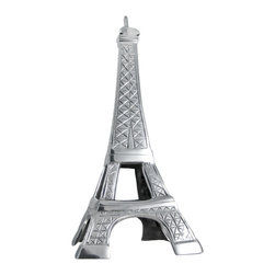 Zeckos - Cast Aluminum Eiffel Tower Statue Paris France - Made of cast aluminum, this 16 inch tall replica statue of the Eiffel Tower makes a great gift for people who love all things French. It has cross-hatch carvings to replicate the cables in the real tower, and has a wonderful polished finish. It's 16 inches tall, 7 inches wide and 7 inches deep.