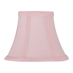 "The Gallery - Set of 5 - Pink Clip on Silk Shades for chandelier or Lamps - Set of 5 shades. These shades are great for lamps or chandeliers. They are attached by easily clipping on to the bulb. Size H 5"" W 6"""