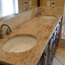 Bathroom Countertops by Tile Design Inspirations