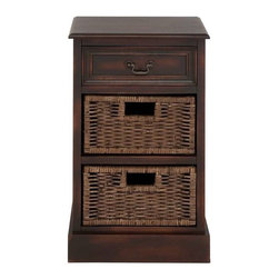 Benzara - American Styled Woodland Basket Stand - American styled woodland basket stand. This creative Basket stand is made from durable wood features three drawers. Adding this Basket stand to your interiors will make your interior look complete. Some assembly may be required.