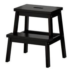 Nike Karlsson - Bekväm Step Stool, Black - I believe every bath needs a step stool. This one has great lines and is a steal! It's even pretty enough that it can stay out all the time.