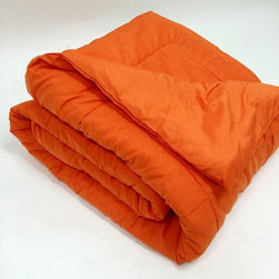 Bedding Web Store - Oversized Down Alternative Comforter 90 GSM-Orange - High Quality Oversized Down Alternative Comforter Super-Soft 90 GSM