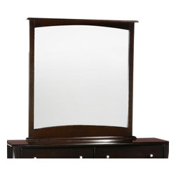 Night & Day Furniture - Night and Day Clove Mirror For 6-Drawer Dresser - Dark Chocolate - The curvy edges and outstanding finish of our Clove Cases help create a soothing environment while keeping your things neatly organized. Our Clove 6 drawer dresser, with optional mirror, is the grand piece of our Clove group. Six big drawers along with the huge dresser-top surface makes it the major utility piece in the group. Add the optional mirror to complete its grandeur.