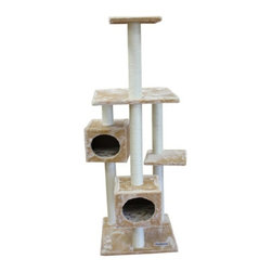 Kitty Mansions - Kitty Mansions Manhattan Cat Tree - MANHATTAN-MOCHA - Shop for Towers and Houses and Accessories from Hayneedle.com! The Kitty Mansions Manhattan Cat Tree is a classic cat tree - just what every kitty needs! This tree has six different levels for your cat to scratch play and sleep on. Features two separate master bedrooms four flat platforms and five scratching posts to keep your cat's nails perfectly manicured - and away from the couch!