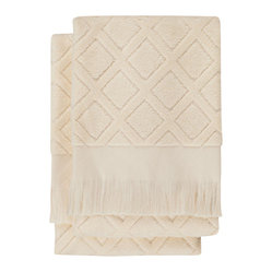Trellis Hand Towel (Set of 2), White