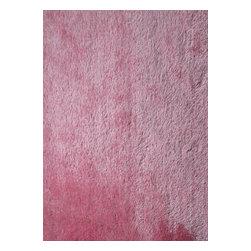 Rug - ~2 ft. x 3 ft. Pink Living Room Door Mat, Made In Tibet, Shaggy & Hand-tufted - Living Room Hand-tufted Shaggy Area Rug Door Mat