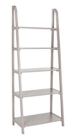 Safavieh - Safavieh Albert 72 Inch Etagere in Grey - Inspired by the classic library ladder, the Albert etagere has a contemporary A-line profile with five shelves that increase to a slim 15.9 inches at the base. An ideal storage solution for the contemporary interior, Albert's clean lines and geometric form make it a modern classic in pine wood in painted grey finish. What's included: Etagere (1).