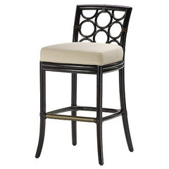 eclectic bar stools and counter stools by McGuire Furniture Company