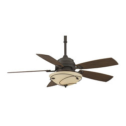 Fanimation - Fanimation Hubbardton Forge Leaf Ceiling Fan in Bronze - Fanimation Hubbardton Forge Leaf Model HF6200BZ in Bronze with Coffee Finished Blades. Included fixture with Leaf Scroll accents for the Hubbardton Forge Leaf Fan.
