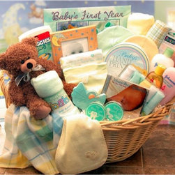 Gift Basket Drop Shipping - Deluxe Welcome Home Precious Baby Basket - Blue - 890111-BLUE - Shop for Baby Gifts from Hayneedle.com! Welcome home your favorite little stud with the Deluxe Welcome Home Precious Baby Basket - Blue. This large laundry basket with handles comes brimming with special deliveries for the special delivery in your life from bath accessories and burp cloths to T-shirts beanies booties and baby wipes. New parents will love the host of items designed to capture baby s milestones including a plush hanging growth chart handprint kit and keepsake boxes for baby s first tooth and haircut. There s no treasure like a little arrival so show you care in a big way with a care package that s precious practical and above all appreciated.Gift Basket IncludesPlush Baby's First Year wall hanging growth chart Baby's first teddy bear ultra plush Baby's first tooth keepsake box Baby's first haircut keepsake box Baby lullaby CD Baby's first handprint kit 5x7 Ceramic baby picture frame 5 pc Terry cloth wash cloth set Two 100% cotton T-shirts 2 Baby beanies 2 Hooded baby bath towels Baby manicure set Baby wipes Johnson & Johnson baby lotion 8 oz. Johnson & Johnson baby wash 8 oz. Johnson & Johnson tearless baby shampoo 7 oz. My First Cookies baby shortbread cookies 2 Baby burp cloths 2 Sets baby booties Large laundry basket with handlesPlease note that for this item the following services are available during the checkout process:Multiple Ship-To which allows you to send gifts to several recipients with a single order.Future Delivery which lets you select a specific date for delivery so your gift arrives at the perfect time.About Gift Basket Drop ShippingGift Basket Drop Shipping has been helping customers send high-quality gift baskets for 16 years. Their reliability variety and careful attention to every detail have made them an industry leader. They currently offer over 186 different every day designs in addition to their outstanding selection of holiday-themed 